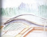 Liege Guillemens TGV Station - Sketchbook, 1997
