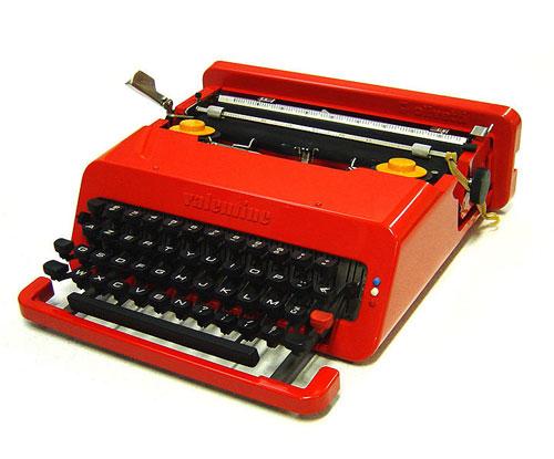 Valentine-typewriter-red